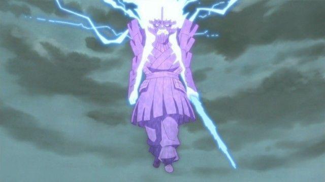 Sasuke has a rinegan eye that controls 10 beasts